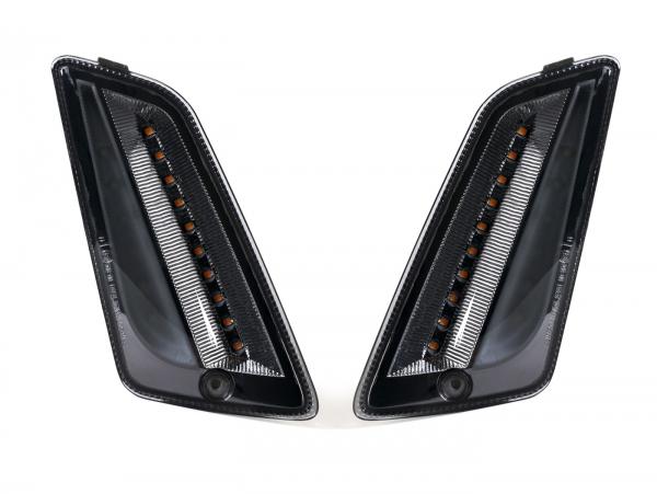 Blinker-Satz vorne GTS 125-300 schwarz mit LED Tagfahrlicht